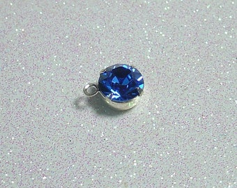 SWAROVSKI 8MM RING WITH SAPPHIRE SILVER PENDANT