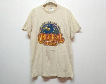 Rare Vintage 90's Universal Studios T Shirt Medium Size