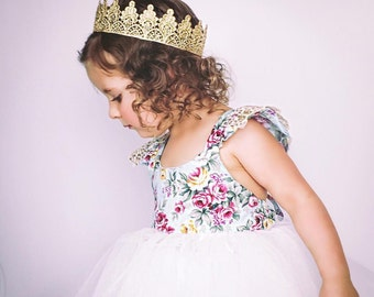 Full size Avery lace crown || photography prop || Toddler-Adult || custom sizes || WASHABLE