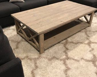 Custom Rustic Farm House Coffee Table