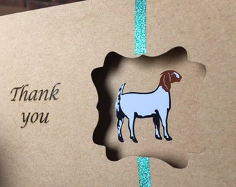 Boer goat Thank you cards