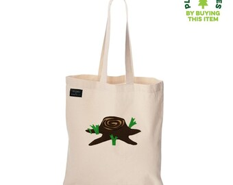 Giving Tree - Ivory Tote Bag - mi cielo x Donald Robertson