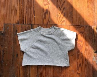 1970's Women's X-Small Tri-Blend Cut Off Crewneck Sweatshirt