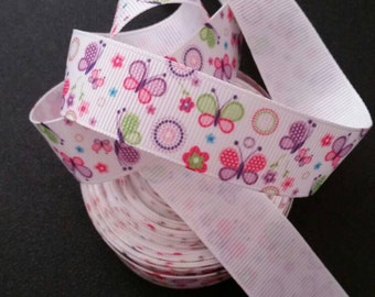 Butterfly Grosgrain Ribbon | Bow Making Ribbon | Grosgrain Ribbon | Bow Supplies | Grosgrain Bow Ribbon |