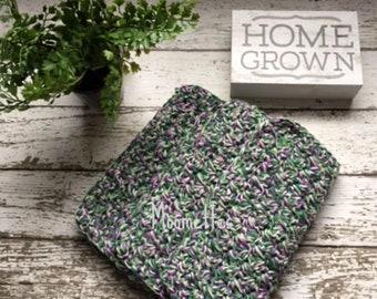 Dishcloth Set Handmade Kitchen Crochet Dishcloths Farmhouse Purple Grape Green Crochet Washcloth Eco Friendly Cotton Dishcloths Set of 3