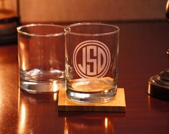 Bourbon Barware, Scotch Glasses, Personalized Whiskey Glasses, Sand Carved Glasses, 11 oz. Rocks Glass, Mens Gift, Groomsmen Gift, Groomsman