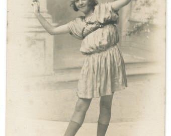 1920s Young Flapper Girl Real Photo Postcard Antique RPPC Vintage Victorian Edwardian Fashion Accrington