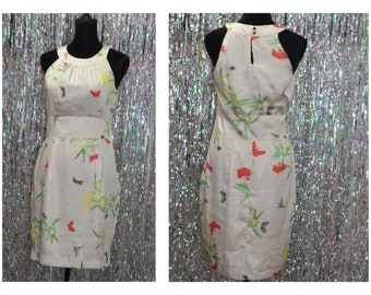 90's Floral Butterfly Dress (8)