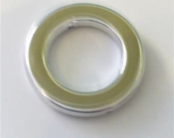 1 beige khaki ring and silver 40mm AA298 beige
