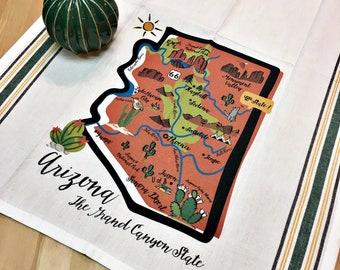 Arizona State Map Kitchen/Tea Towel