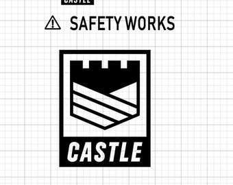 Castle Safety Works - Iron On Vinyl Decal Heat Transfer