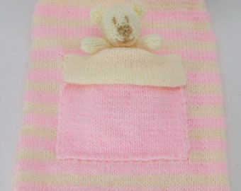 Bear Hot Water Bottle Cover Knitting Pattern KBP-017