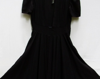 Perfect LITTLE BLACK DRESS...Vintage Forties, Classic, Sexy Simplicity, Swingy, Drapey