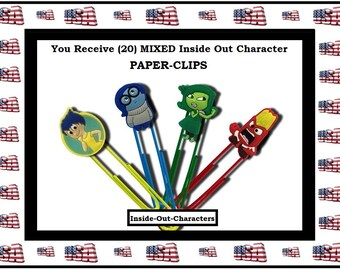 Inside Out Paper Clips Character Cartoon Paper Clips Birthday favors Goody Bags Office Accessories Office Gifts Super Sweet Stocking Stuffer