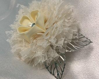 Ivory Flower Barrette