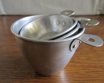 Vintage Set of Metal Measuring Cups