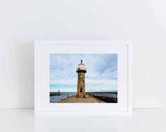 """Wall Art Home Decor: Whitby Lighthouse, Yorkshire (10"""" x 12"""")"""
