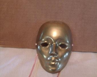 Brass mask, wall hanging decor, theater mask, (# 80/6)