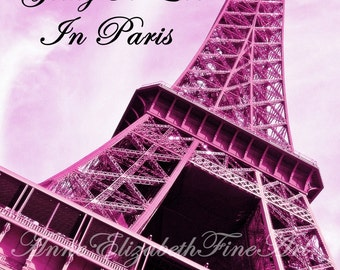Paris In Pink-Fine Art Photograph-Preppy Dorm Decor-Pink-Paris Decor-Fashion-Nursery Art-Eiffel Tower-Fashionista-Girls Paris Decor-Bedroom