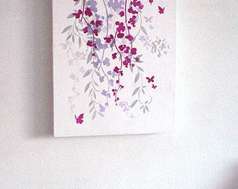 Blossom and Butterfly Stencil ©