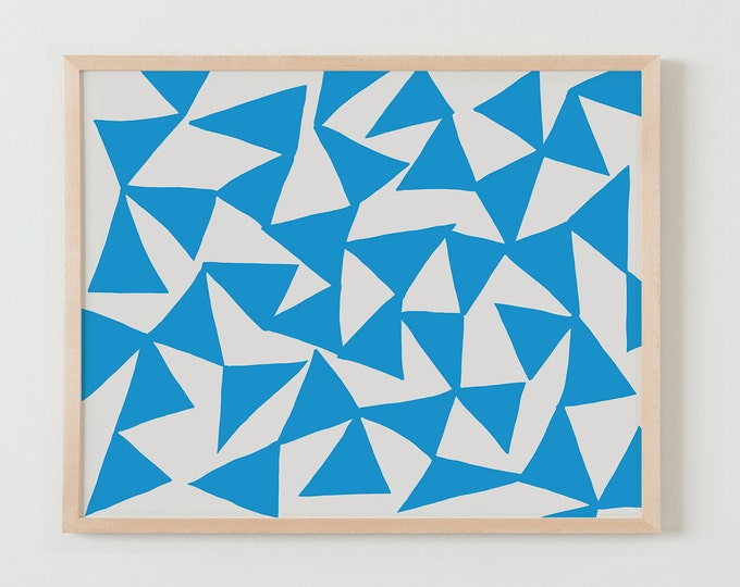 Fine Art Print.  Turquoise Triangles. March 1, 2016.