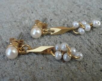 1980s Geometric Dangle Earrings