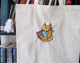 Totebag super cat - tote bag super cat