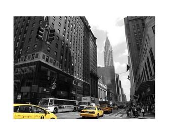 Downtown Manhattan fotografia di viaggio originale.  Arte da appendere per la decorazione di casa 20 cm x 30 (7,87''x 11,81'')