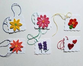 Floral Gift Tags - set of 6