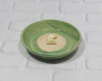 Garlic Grater - Pottery Garlic Grater - Ceramic Garlic Dish - Grating Bowl - Oil Dipping Dish - Appetizer Plate