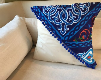 Pillow - pillow cover - Decorative pillow COVER - Ramadan Pillow - Ramadan decoration - Blue Khayameya