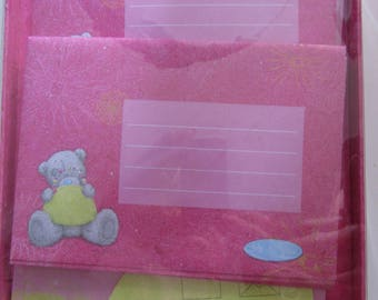 Kit paper plus envelopes Me to You little bear pink and gray