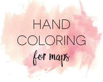Custom Map HAND COLORING