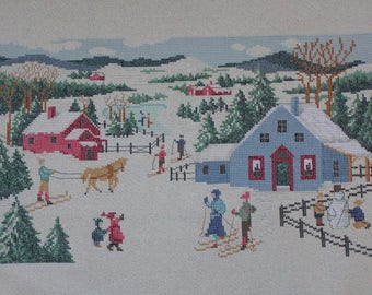 "Embroidery ""St Moritz plain in winter"""