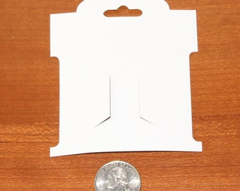 """200 Small White Hairbow Display Cards - 3.25"""" x 3.75"""""""