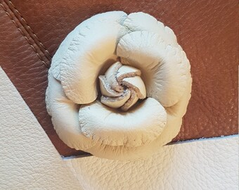 Flower Leather Brooch