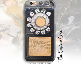 Retro Payphone Phone Case, Vintage Coin Phone Phone Case, Black Public Payphone, Iphone X Case, Iphone 8, Samsung Galaxy