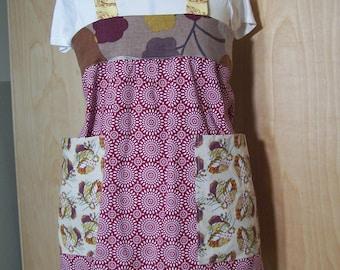 Cross Back apron, Petite size, Super large pocket whole apron