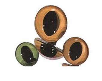 10 Pair 22mm Dark Green Plastic Safety Cat Eyes Article LP3 Oval Pupils Metal Washers Teddy Bear Dragon Plush Toy Stuffed Animal Plushie