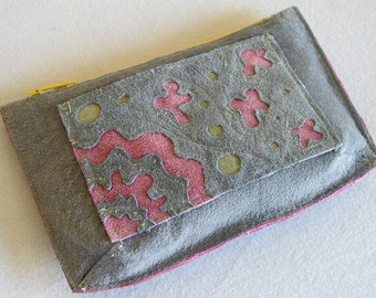 Pouch/Wallet in Suede