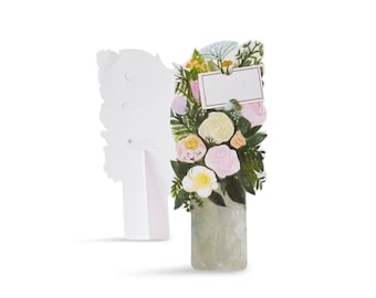 Pewter Vase Florever (Die-Cut With pop-out Stand) Greeting Card