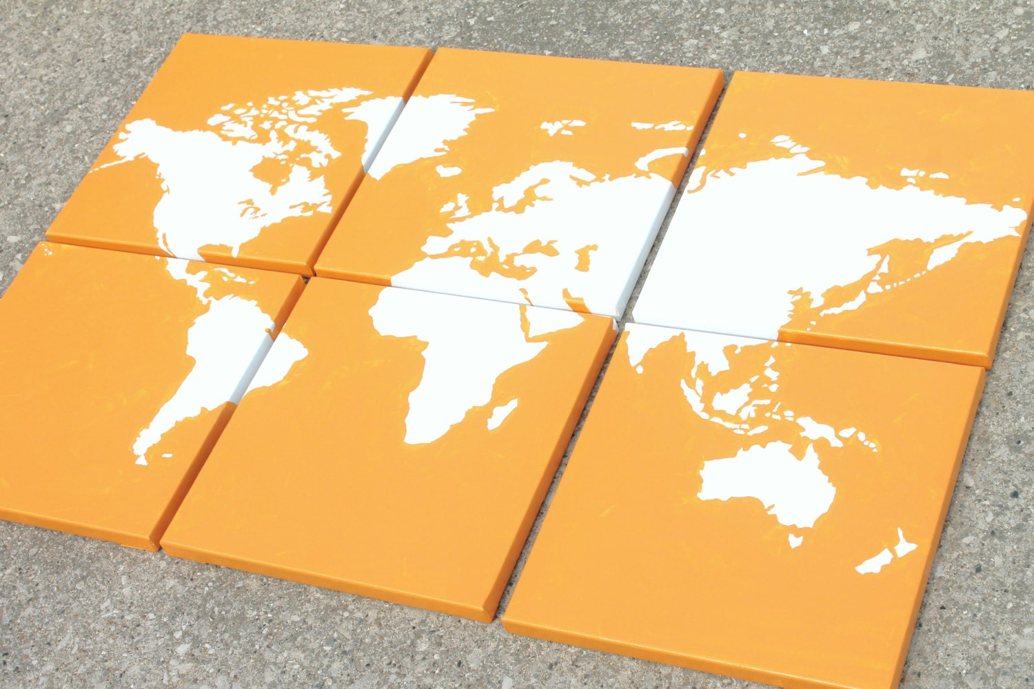 World map canvas 6 12x12s custom colors hand zoom gumiabroncs Images