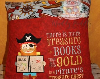 Pirate Pocket Reading Pillow