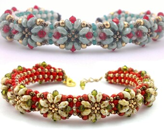 "Beading4perfectionists:  ""Proodles"" bracelet beading pattern tutorial PDF file"