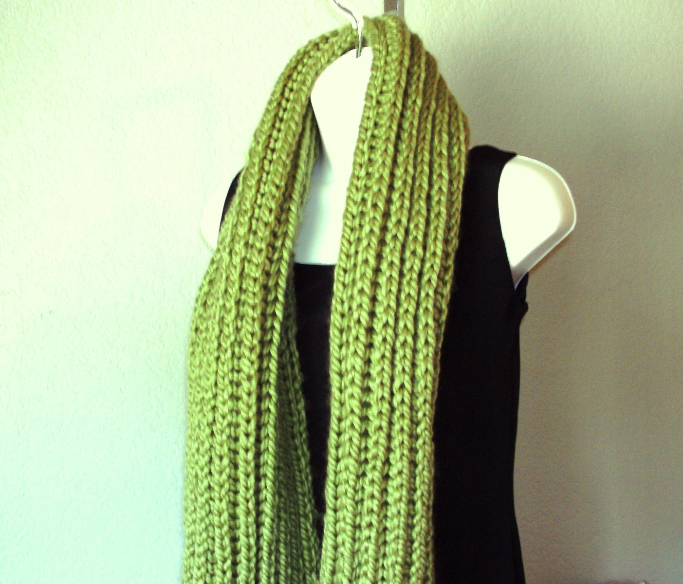 Chunky Rib Scarf Shawl PDF knitting pattern - instant download. from ...