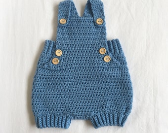 Blue baby overalls