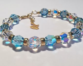 Peace & Harmony Gold Therapeutic Sacred Energy Infused Swarovski Crystal Healing Bracelet by Crystal Vibrations Jewelry