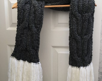 Cable knit scarf #1