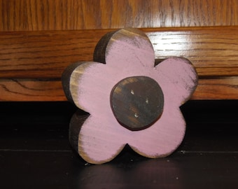 Chunky Small Wood Spring Flower