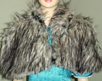 Bridal Capelet,Wedding Cape,Faux Fur